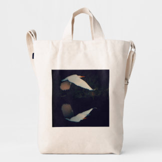 Great White Egret on a mission! Duck Bag