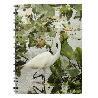 Great White Egret Spiral Photo Notebook