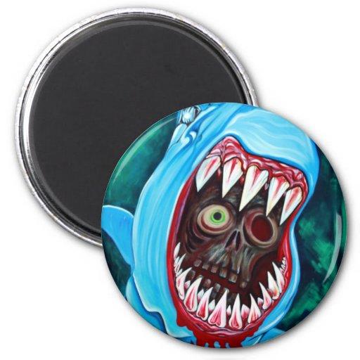 Great White Gobstopper - Shark VS Zombie Magnets
