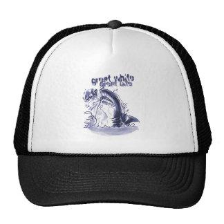 great white great bite - blue trucker hat
