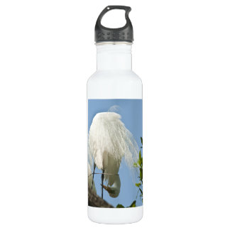 Great White Heron Bottoms Up Stainless Steel Water Bottle