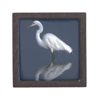 Great White Heron Gift Box Premium Jewelry Box