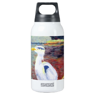 Great White Heron Impressionist Painting Insulated Water Bottle