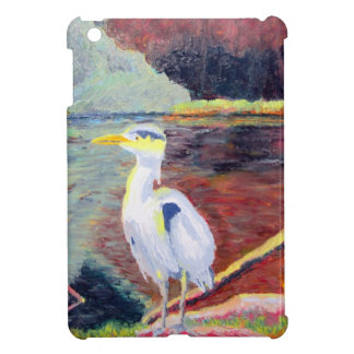 Great White Heron Impressionist Painting Cover For The iPad Mini