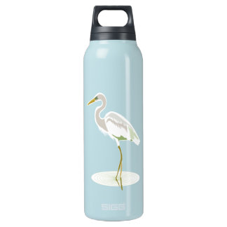 Great White heron Insulated Water Bottle