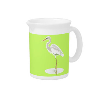 Great White heron Pitcher
