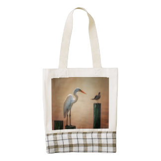 Great White Heron / Snowy Egret Heart Tote