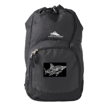 Beach Themed GREAT WHITE HIGH SIERRA BACKPACK