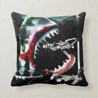 Great White Joker cushion Throw Pillow