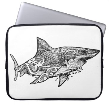 Beach Themed GREAT WHITE LAPTOP SLEEVE