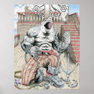 Great White Pirate Print