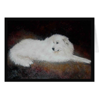 Great White Pyrenees Dog Greeting Card
