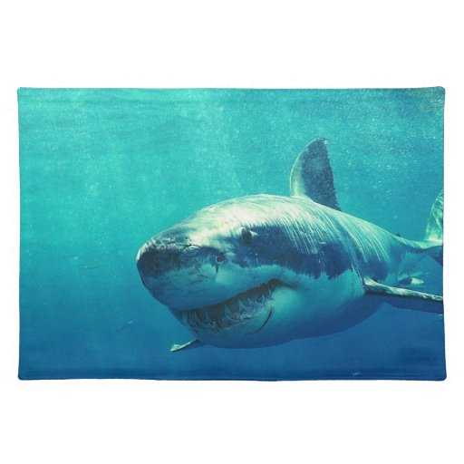 GREAT WHITE SHARK 1 PLACEMATS