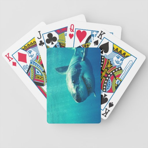 GREAT WHITE SHARK 1 BICYCLE POKER DECK