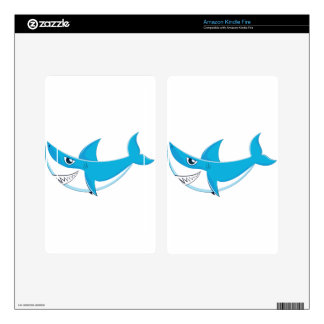 Great White Shark 3 Decals For Kindle Fire