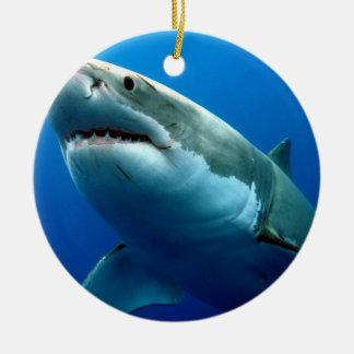 GREAT WHITE SHARK 3 CHRISTMAS TREE ORNAMENT
