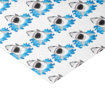 Great White Shark Attack Funny Tissue Paper
