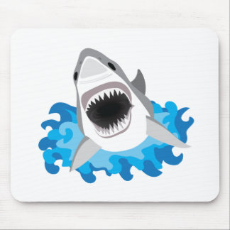 Great White Shark Attack Mouse Pad
