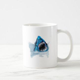 Great White Shark Attack Painting Coffee Mug