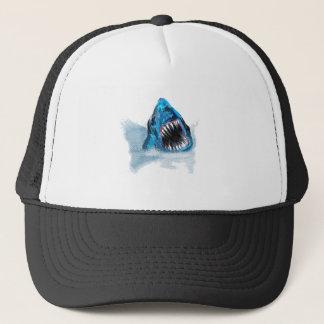 Great White Shark Attack Painting Trucker Hat