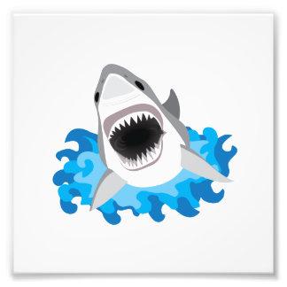 Great White Shark Attack Photo Print