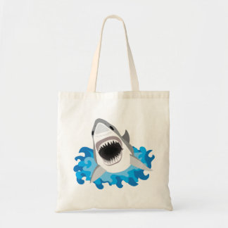 Great White Shark Attack Tote Bag