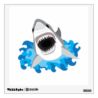 Great White Shark Attack Wall Decal
