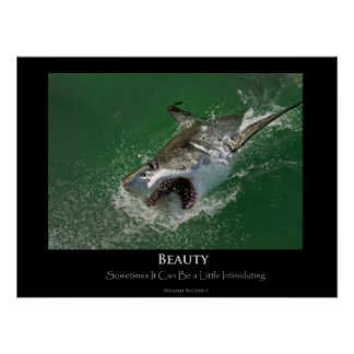 "Great White Shark ""Beauty"" Poster"