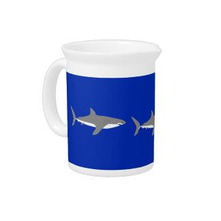 Great White Shark Beverage Pitcher