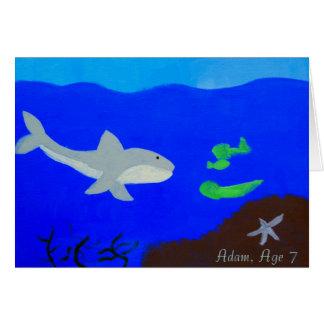 Kids shark cards zazzle for Blue fish dental