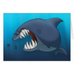 Great White Shark Card (Blank Inside)