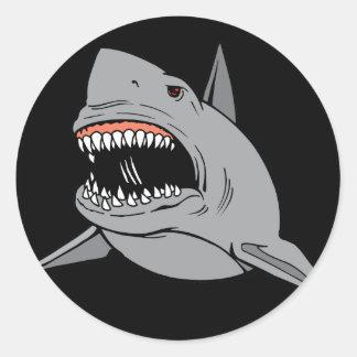 Great White Shark Classic Round Sticker