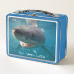 Great White Shark Close Up Ocean Australia Metal Lunch Box