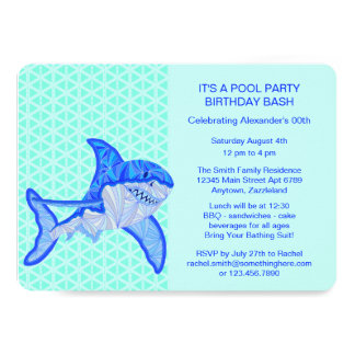 Great White Shark Colorful Sea Animal Card