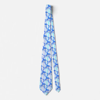 Great White Shark Colorful Sea Stripes Tie