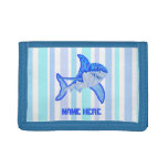 Great White Shark Colorful Sea Stripes Trifold Wallet