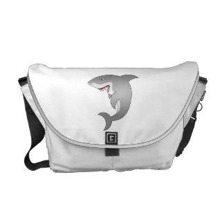 Great white shark commuter bag