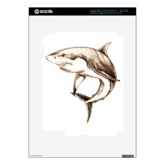 great white shark decal for iPad 3