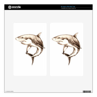 great white shark decals for kindle fire
