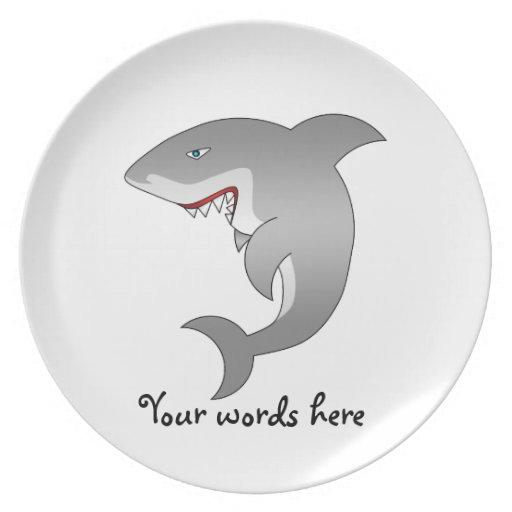 Great white shark dinner plate