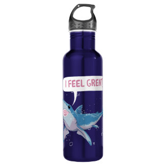 Great White Shark feels Great Stainless Steel Water Bottle