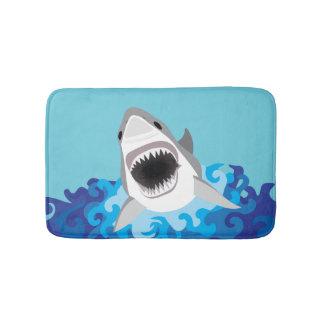 Great White Shark Funny Cartoon Bath Mats