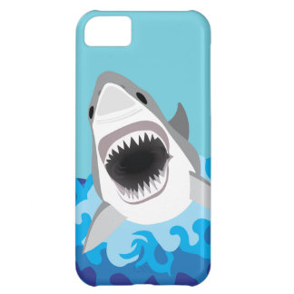 Great White Shark Funny Cartoon Cover For iPhone 5C