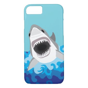 antiqueimages Great White Shark Funny Cartoon iPhone 7 Case