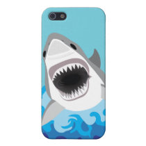 Great White Shark Funny Cartoon iPhone SE/5/5s Case