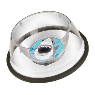 Great White Shark Funny Cartoon Pet Bowl