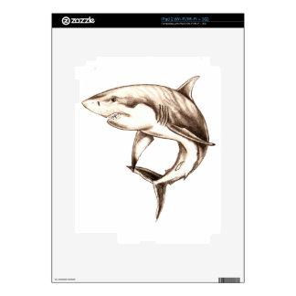 great white shark iPad 2 decals