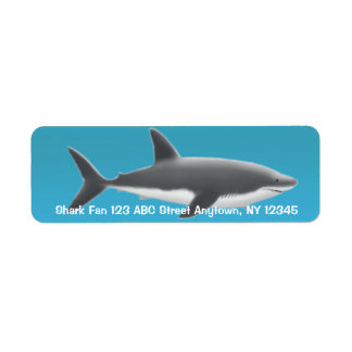 Great White Shark Label Return Address Label
