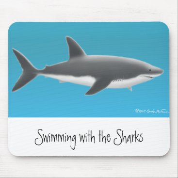 Professional Business Great White Shark Mousepad