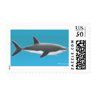 Professional Business Great White Shark Postage